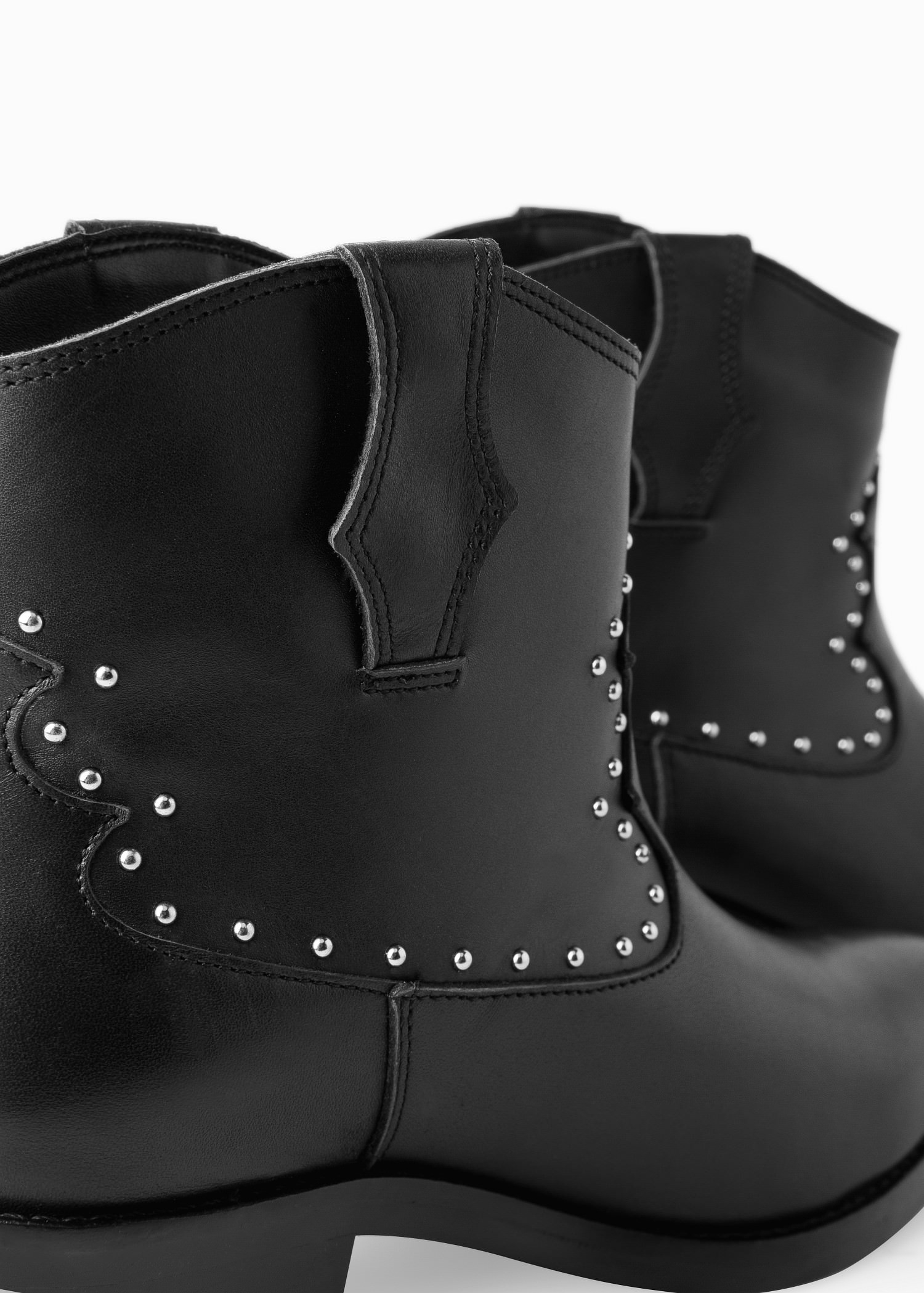 Lyst - Mango Studded Leather Ankle Boots In Black