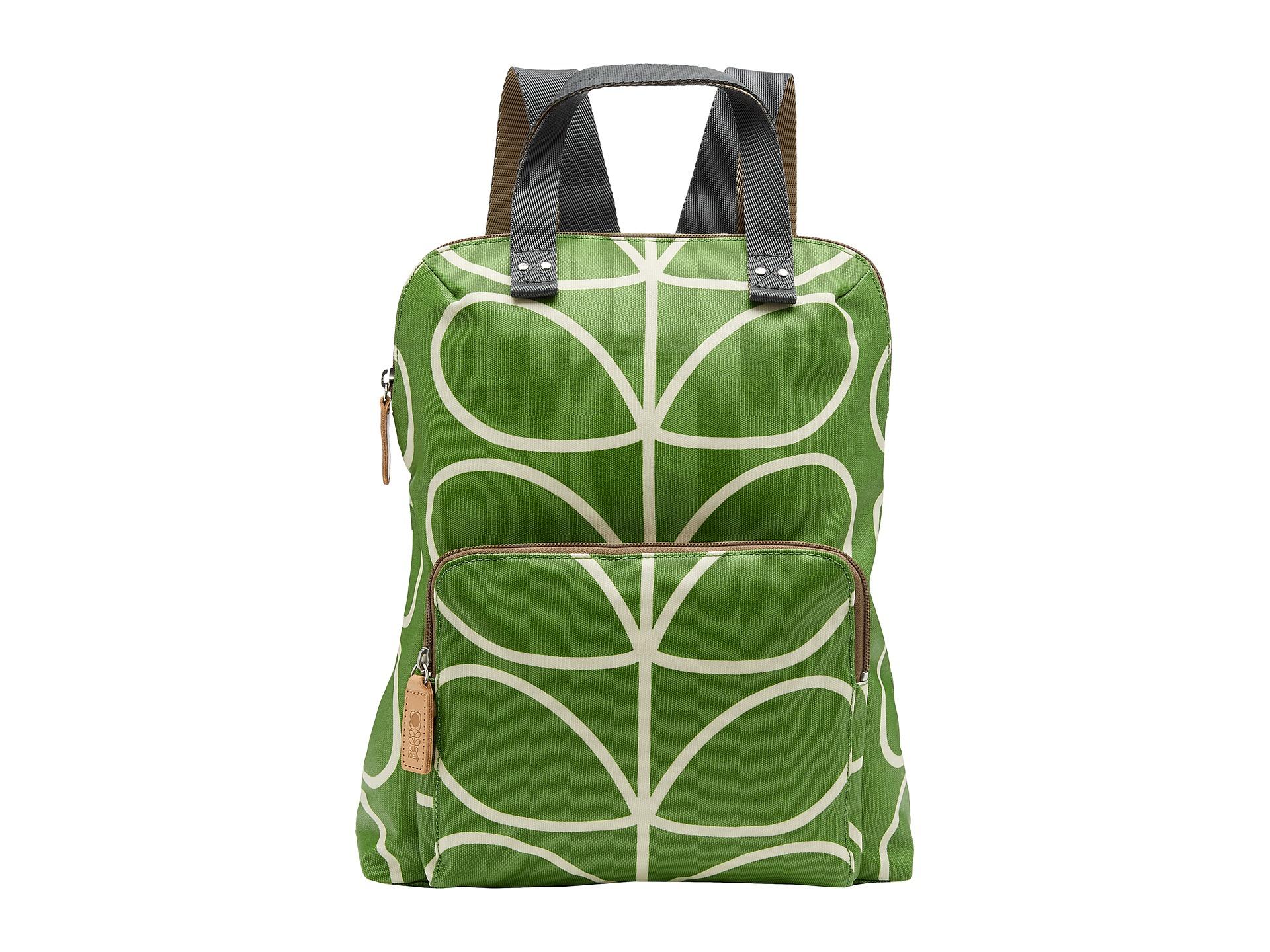 Lyst - Orla Kiely Matt Laminated Giant Linear Stem Print Backpack ... 7ad13e42628d2
