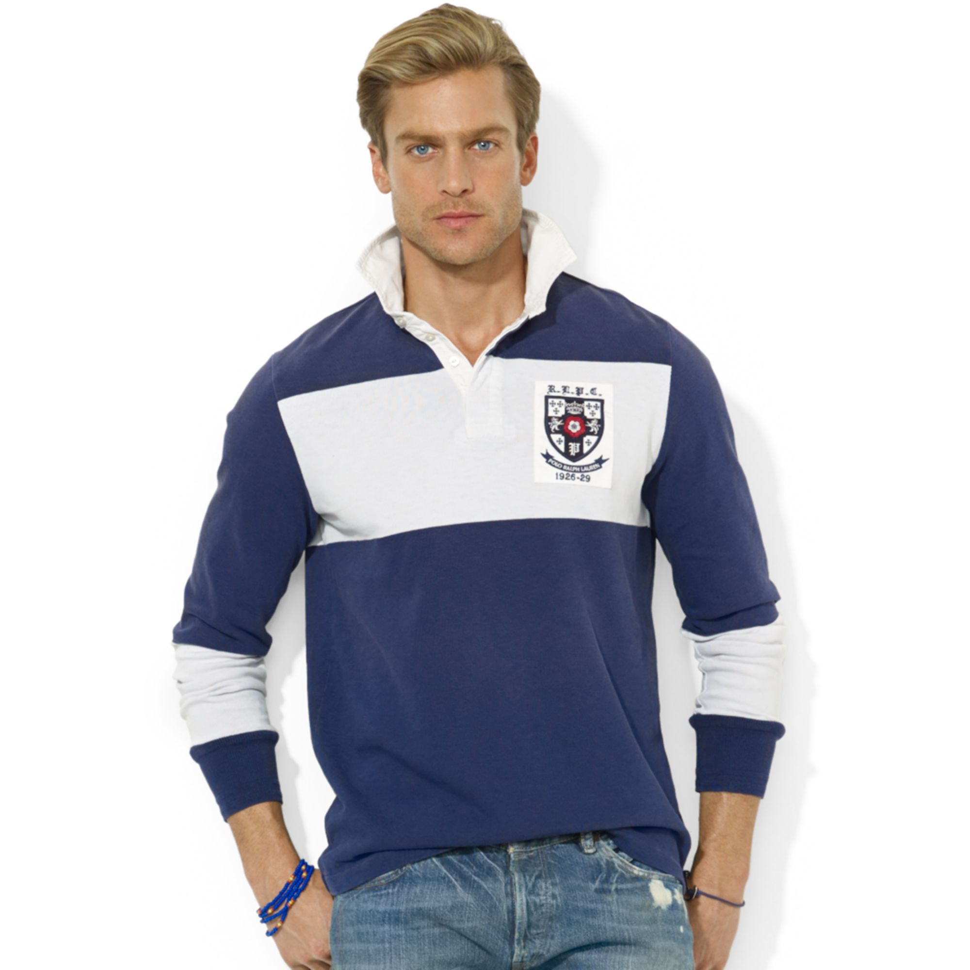 Polo ralph lauren rugby shirts for men for Big and tall polo rugby shirts