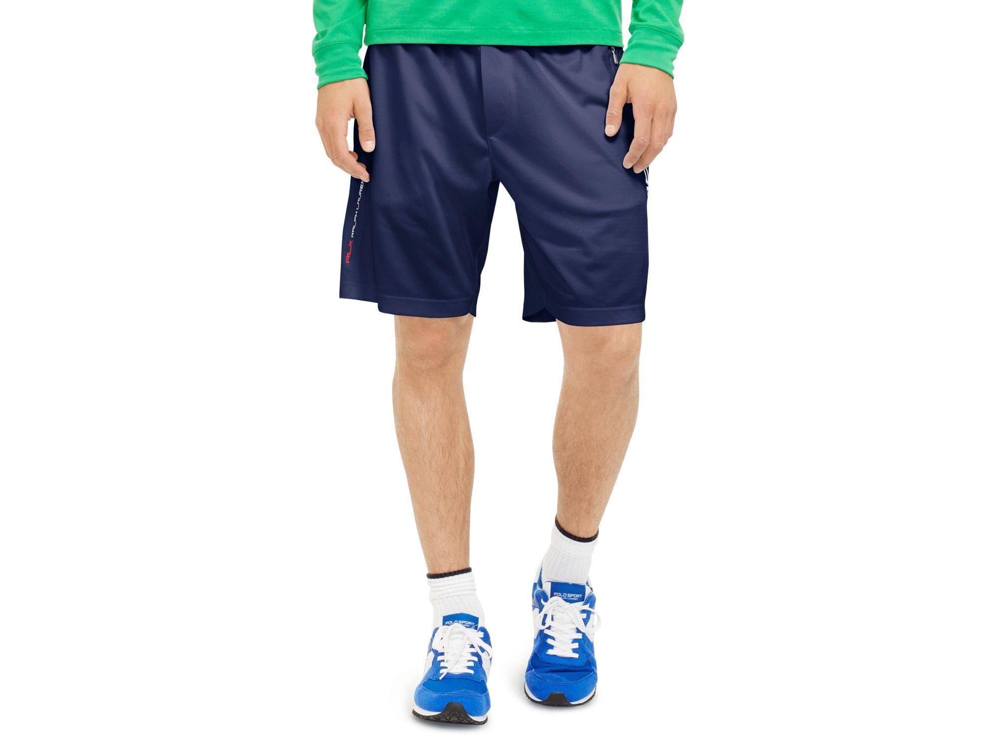 3c36f40aa ... shorts nwt 8e806 8c64e  sale lyst ralph lauren polo sport rlx  engineered mesh compression 35d72 c4fbc