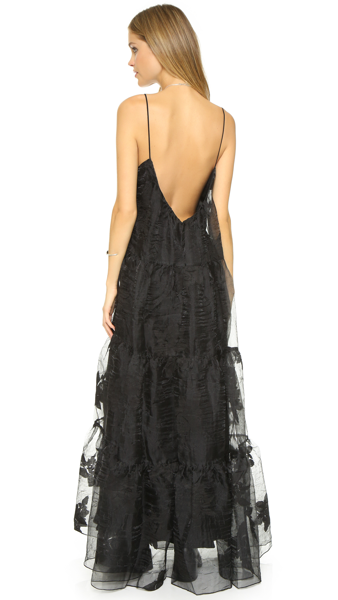 Lyst Free People Black Rose Tiered Maxi Dress In Black