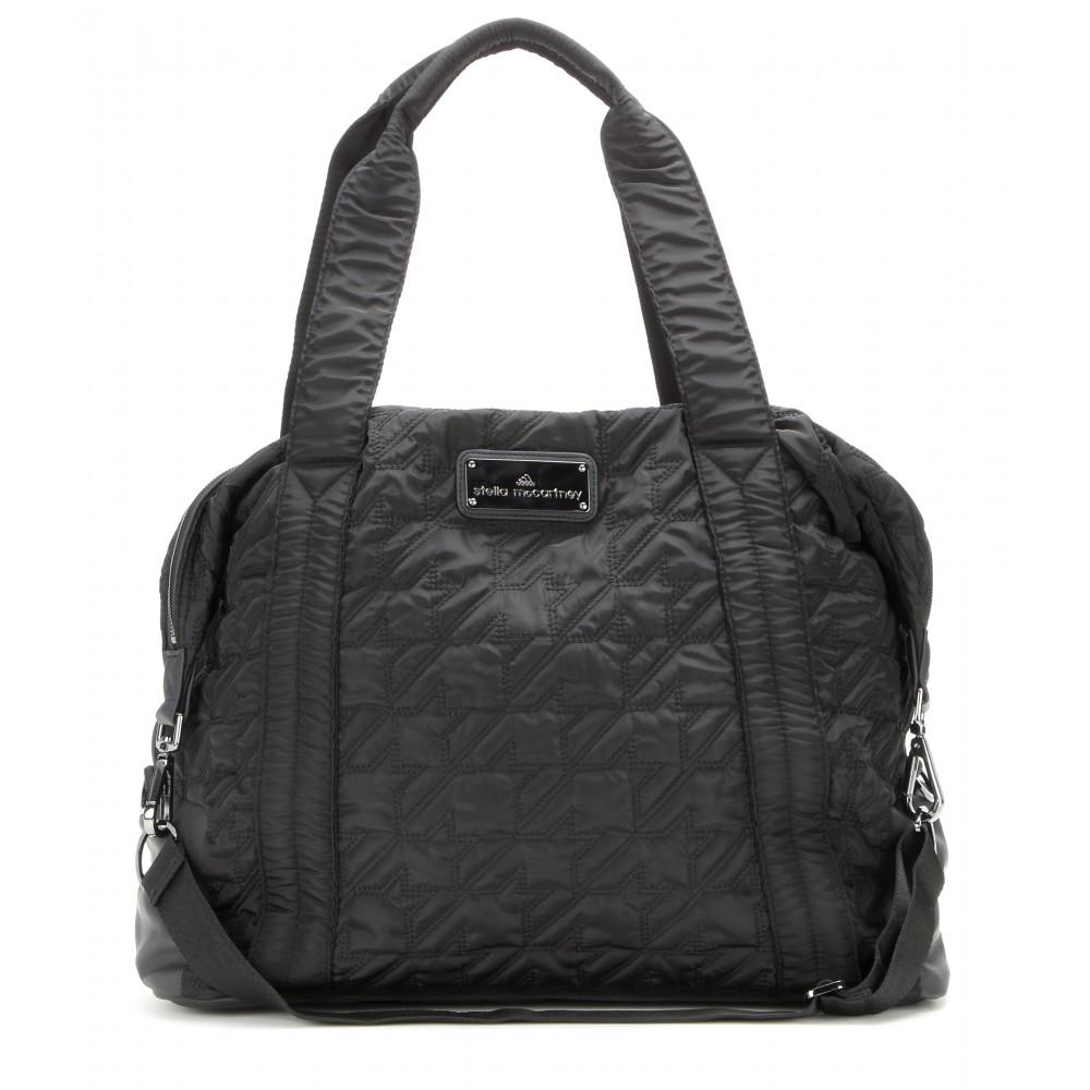 5de2bf9233f8 Lyst - adidas By Stella McCartney Quilted Gym Bag in Black