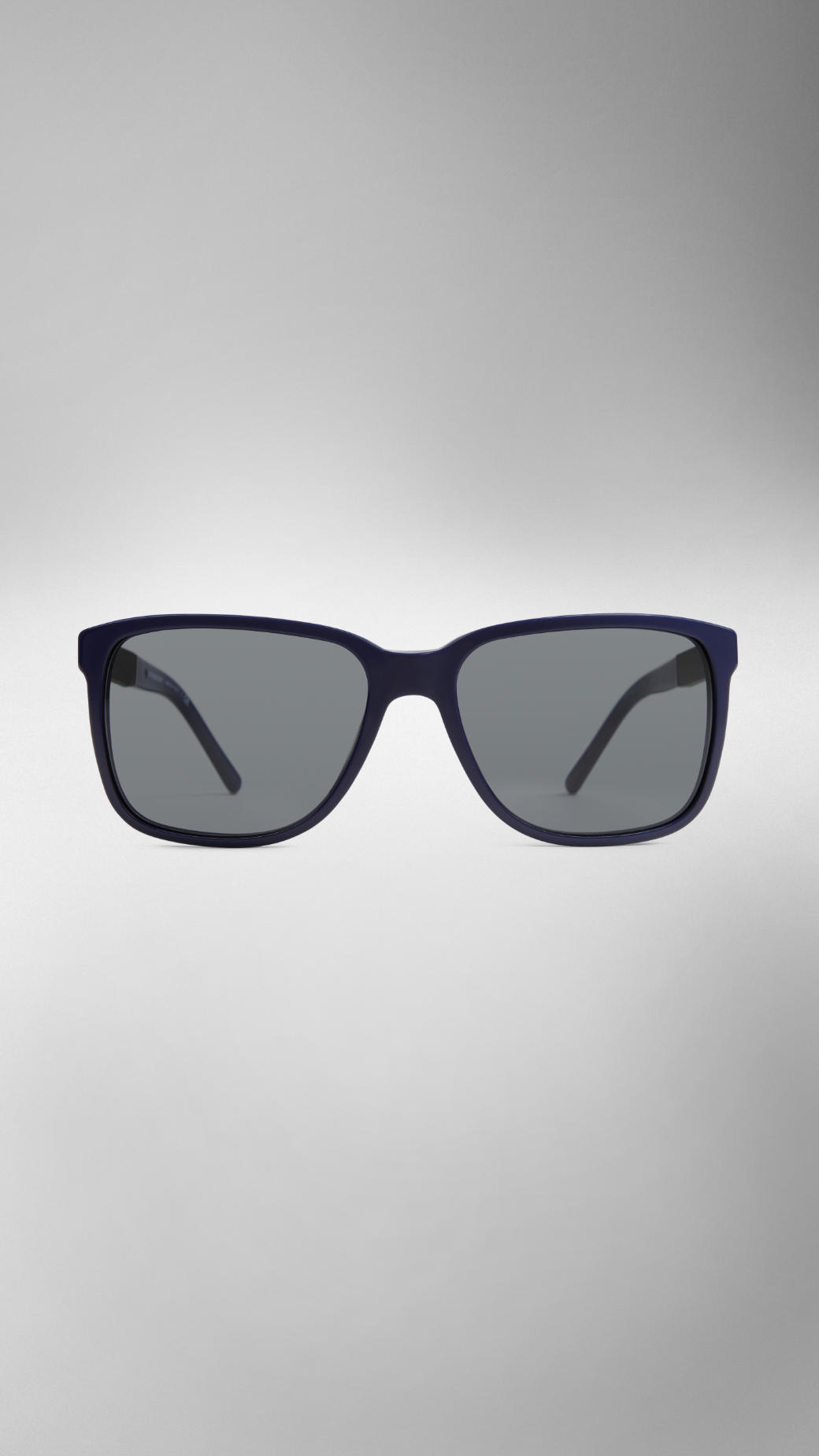 6960dd0bea77 Lyst - Burberry Square Frame Check Detail Sunglasses in Blue for Men