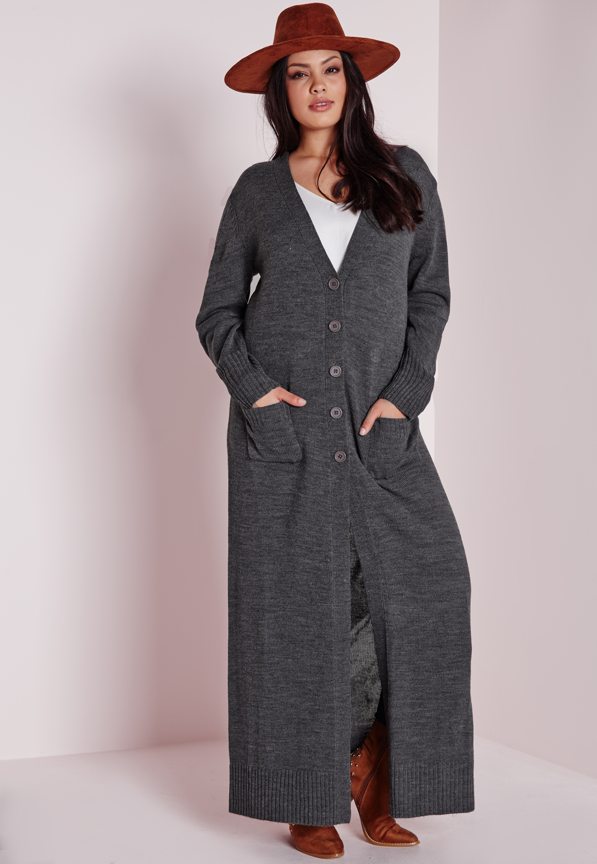 Lyst Missguided Plus Size Longline Button Up Cardigan