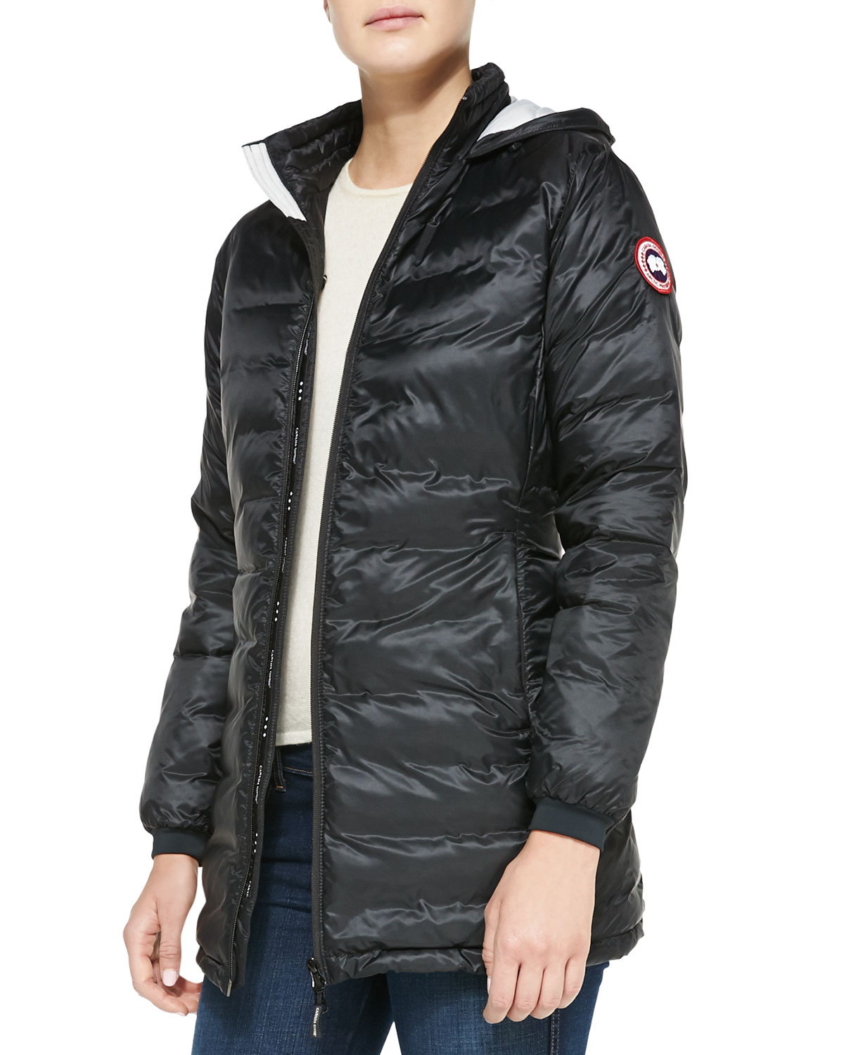 Canada Goose langford parka outlet 2016 - Canada goose Camp Hooded Mid-length Puffer Coat in Black (BLACK ...