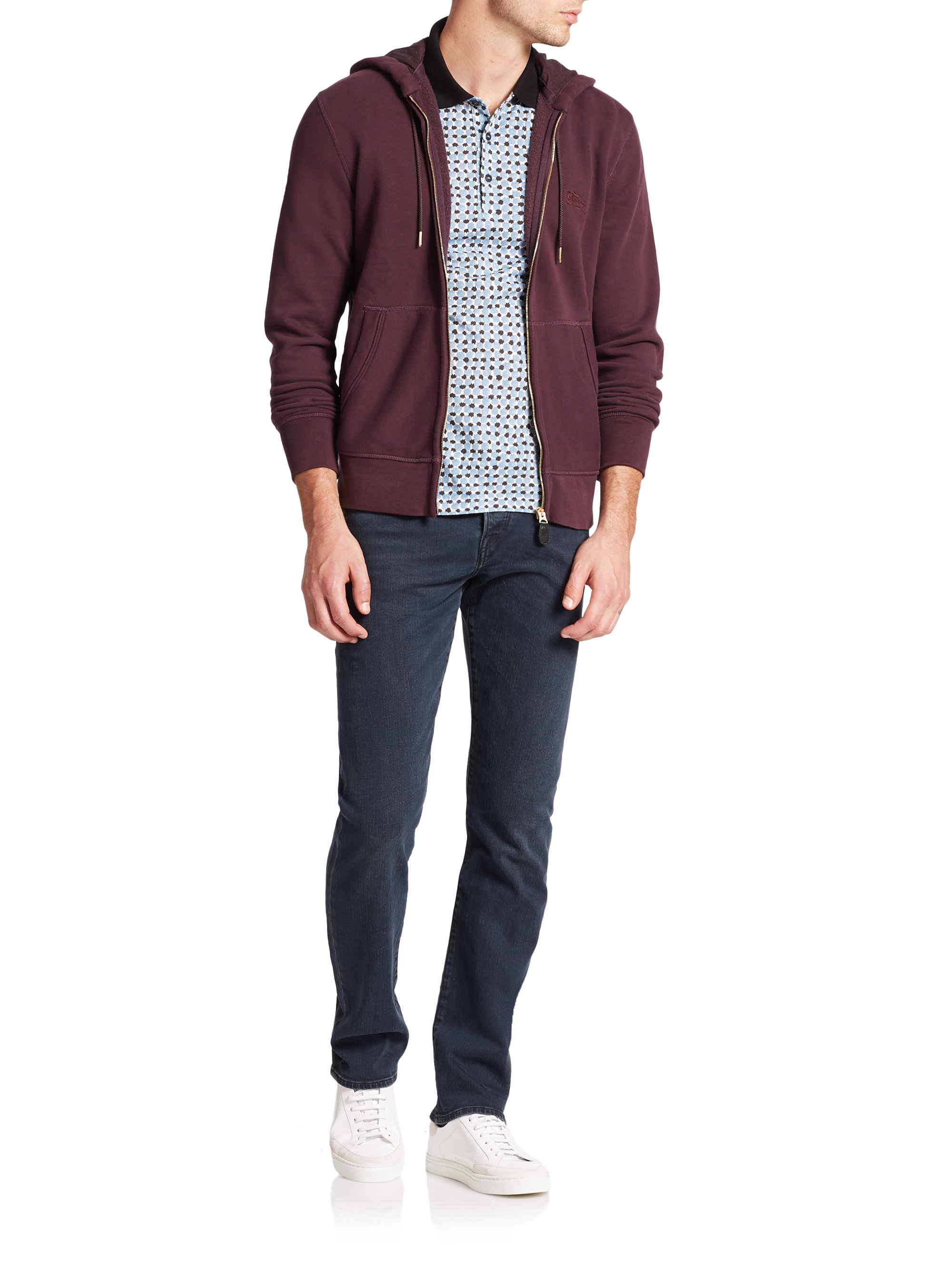 Burberry brit Pearce Knit Hoodie in Purple for Men | Lyst