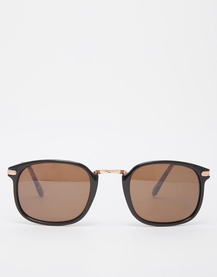 Asos Square Frame Sunglasses In Black With Rose Gold in ...