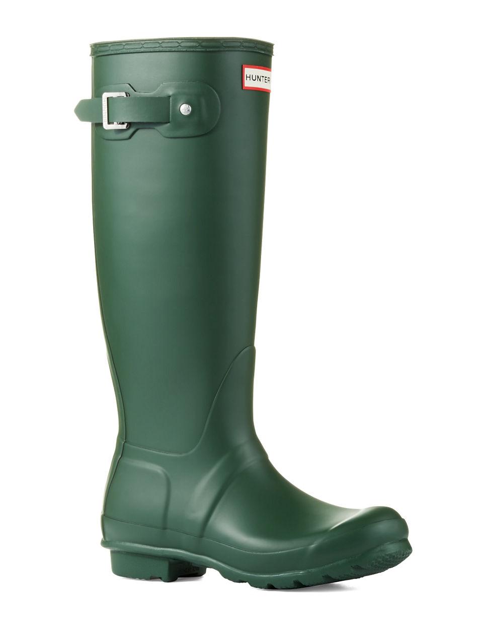 Hunter Original Tall Wellington Rain Boots in Green   Lyst