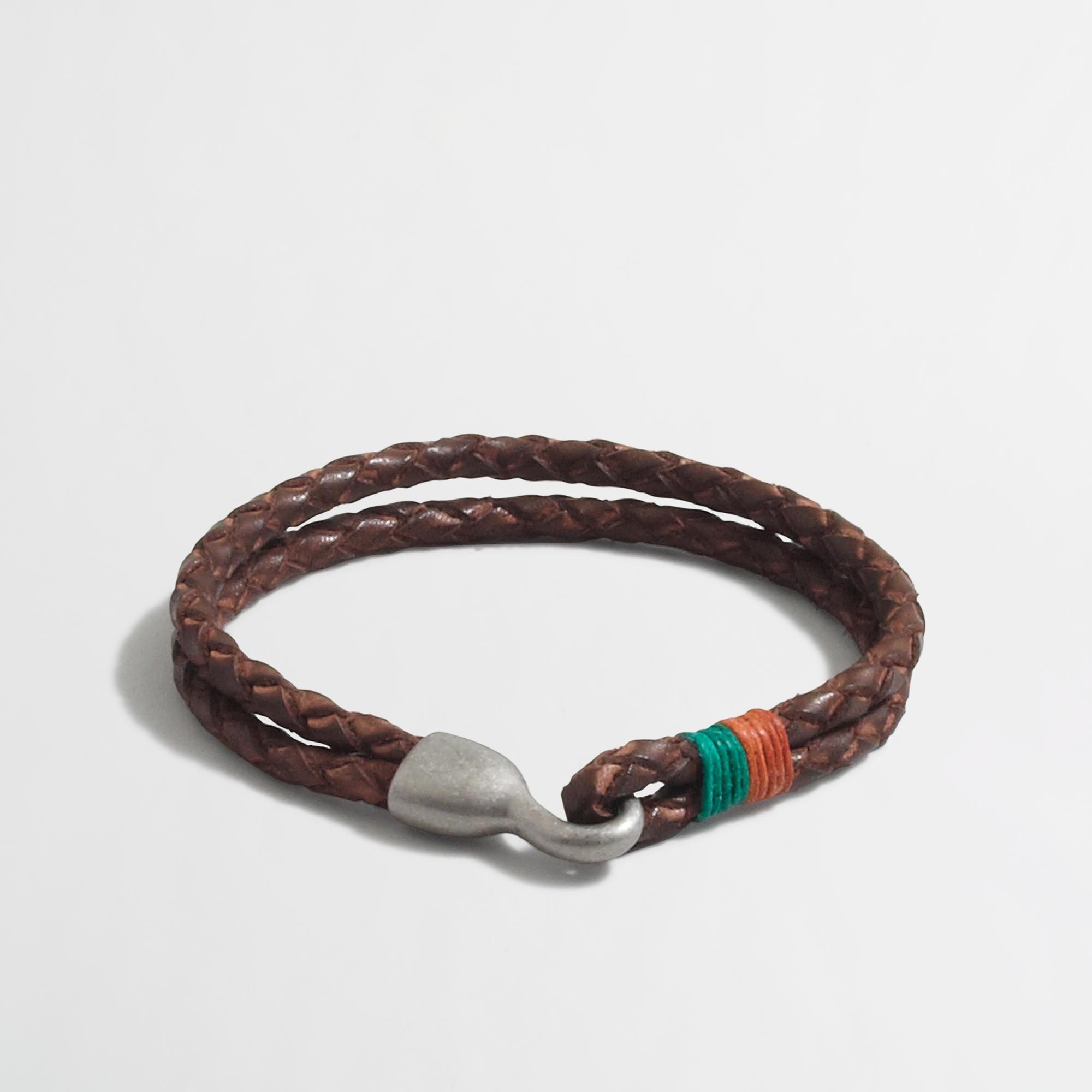 Factory Leather Braided Bracelet