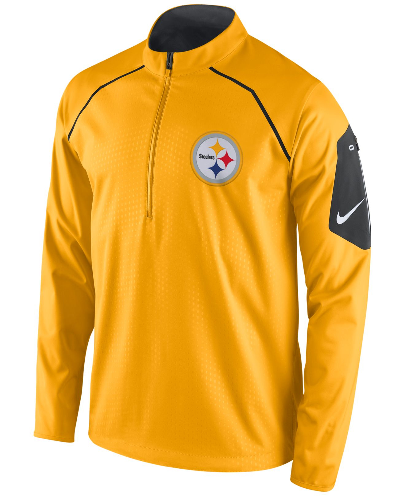 reputable site 1c523 eea66 Nike Yellow Men's Pittsburgh Steelers Alpha Fly Rush Quarter-zip Jacket for  men