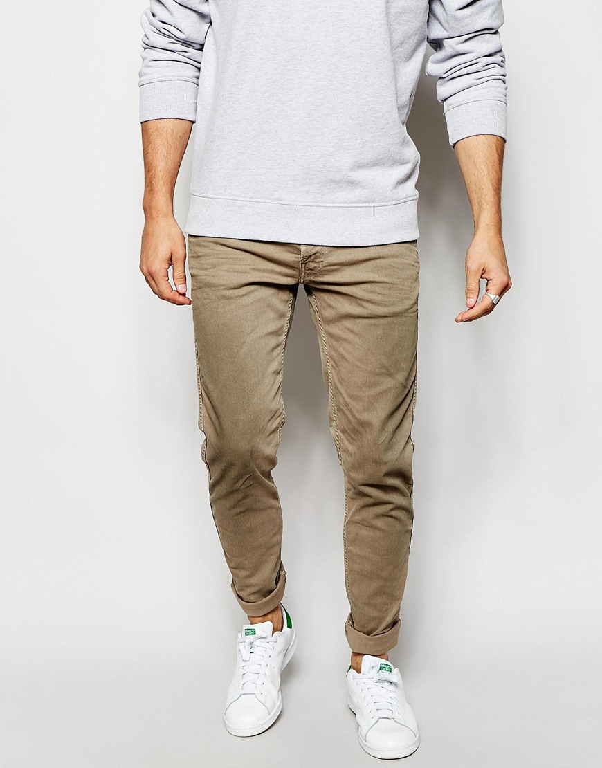 Lyst Replay Jeans Anbass Slim Stretch Fit Bull Overdye