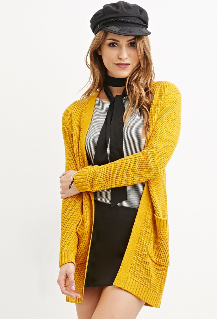 mustard yellow cardigan forever 21 tulips clothing