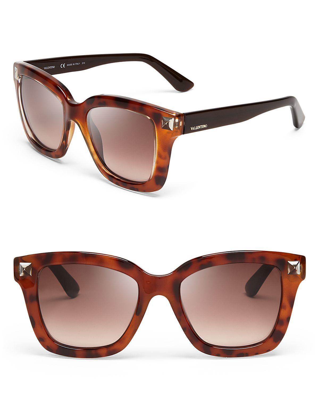 valentino 53mm in brown brown gradient lyst