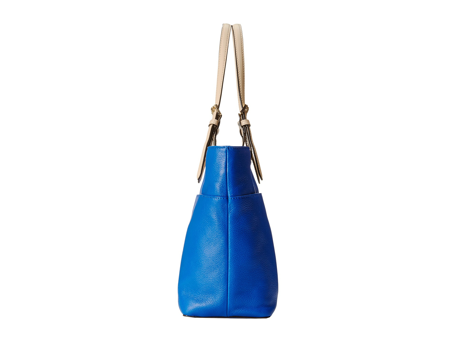 Michael Kors Laukut Pori : Michael kors bedford top zip pocket tote in blue