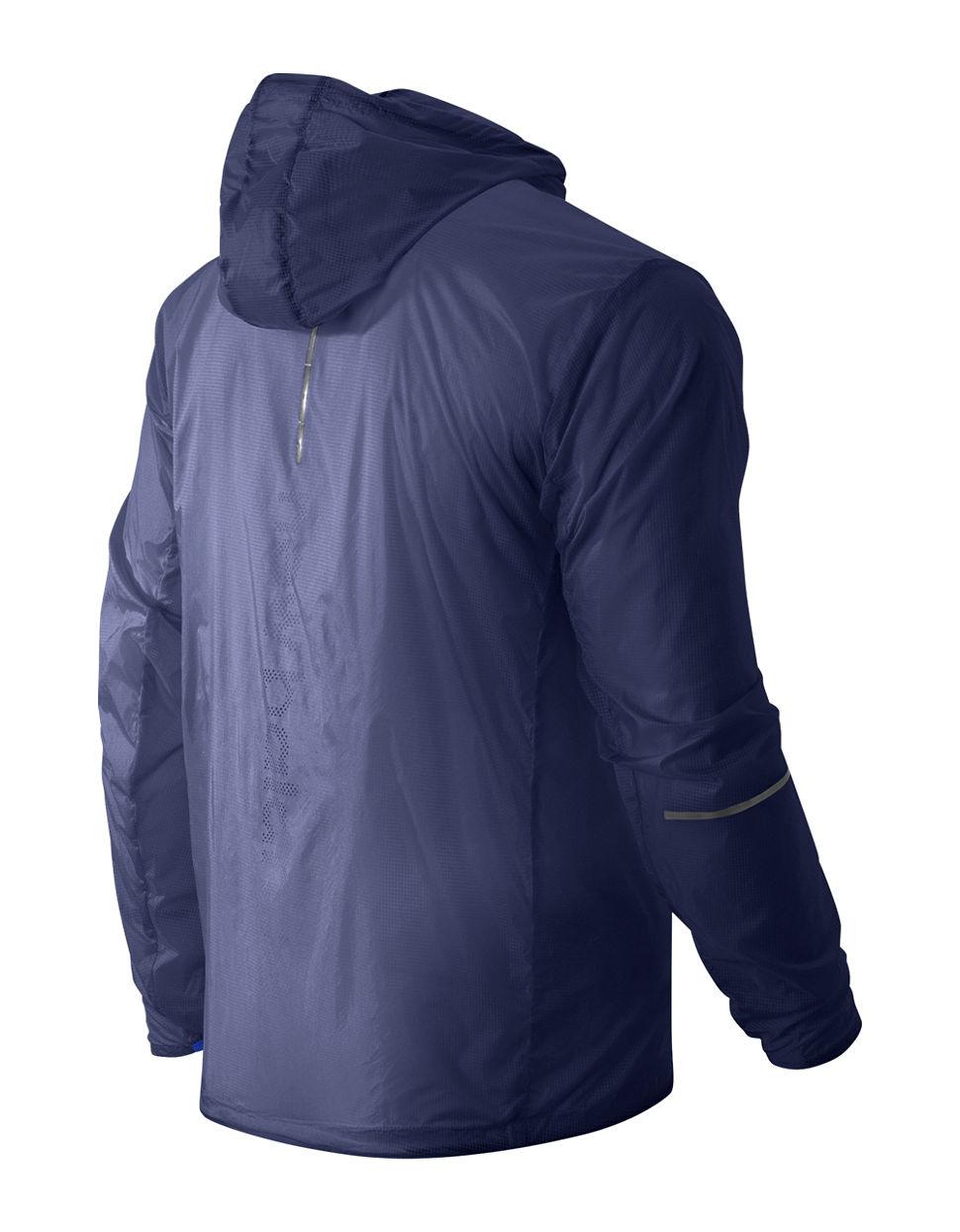 new balance packable jacket in blue for men lyst. Black Bedroom Furniture Sets. Home Design Ideas