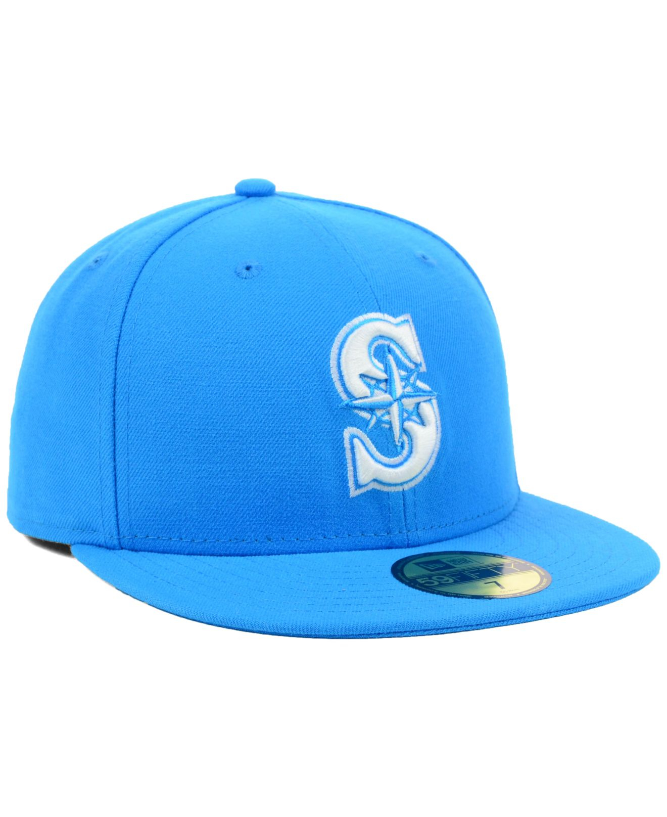 quality design 4fc8e 1aaba ... sweden lyst ktz seattle mariners mlb c dub 59fifty cap in blue for men  58700 d29d8