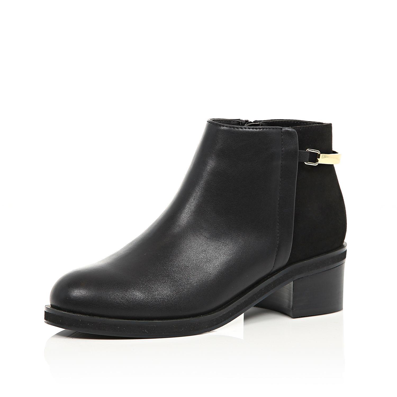 high fashion uk cheap sale order Black Strap Ankle Boots