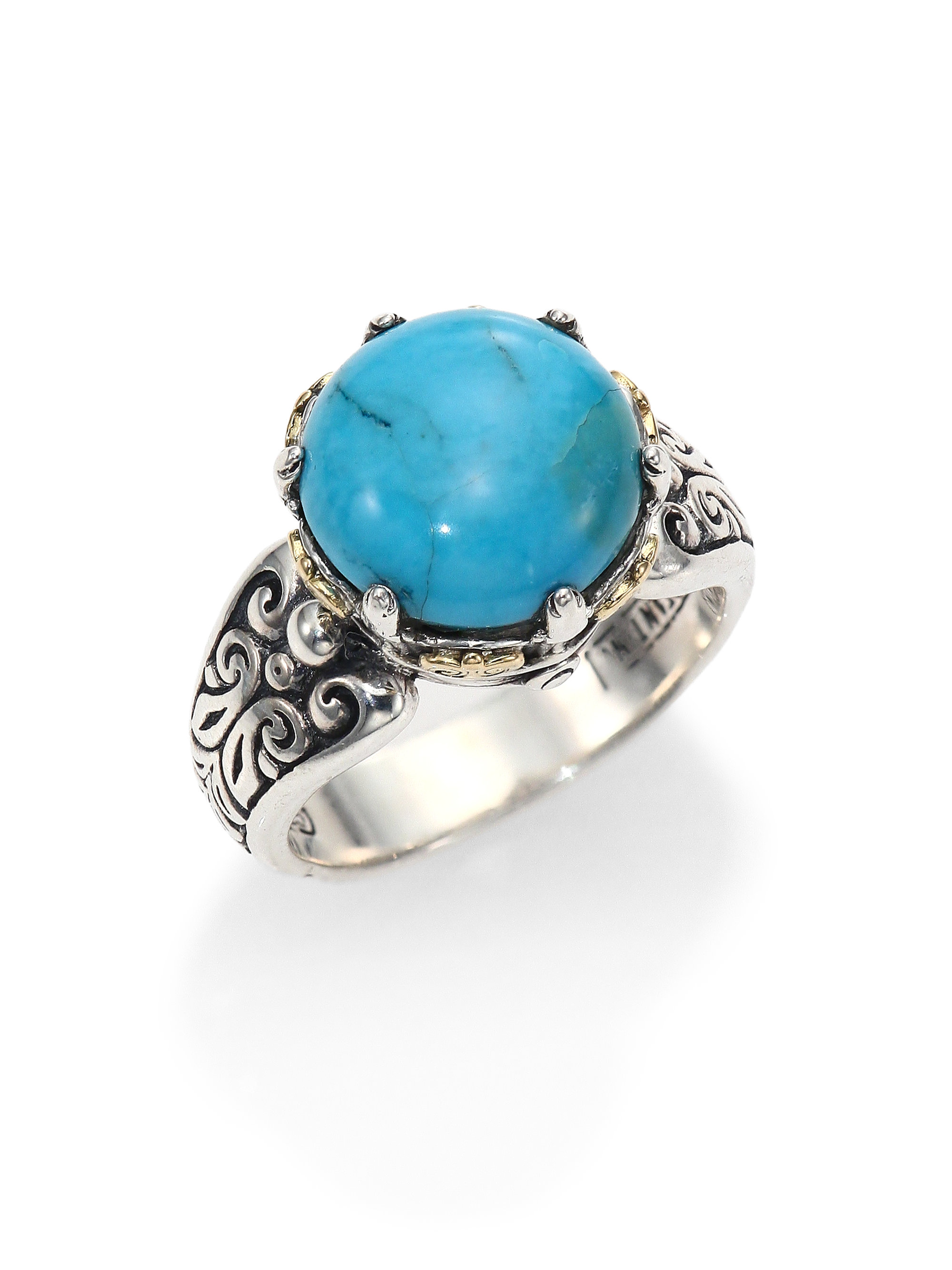 Lyst - Konstantino Hermione Turquoise, 18K Yellow Gold & Sterling ...