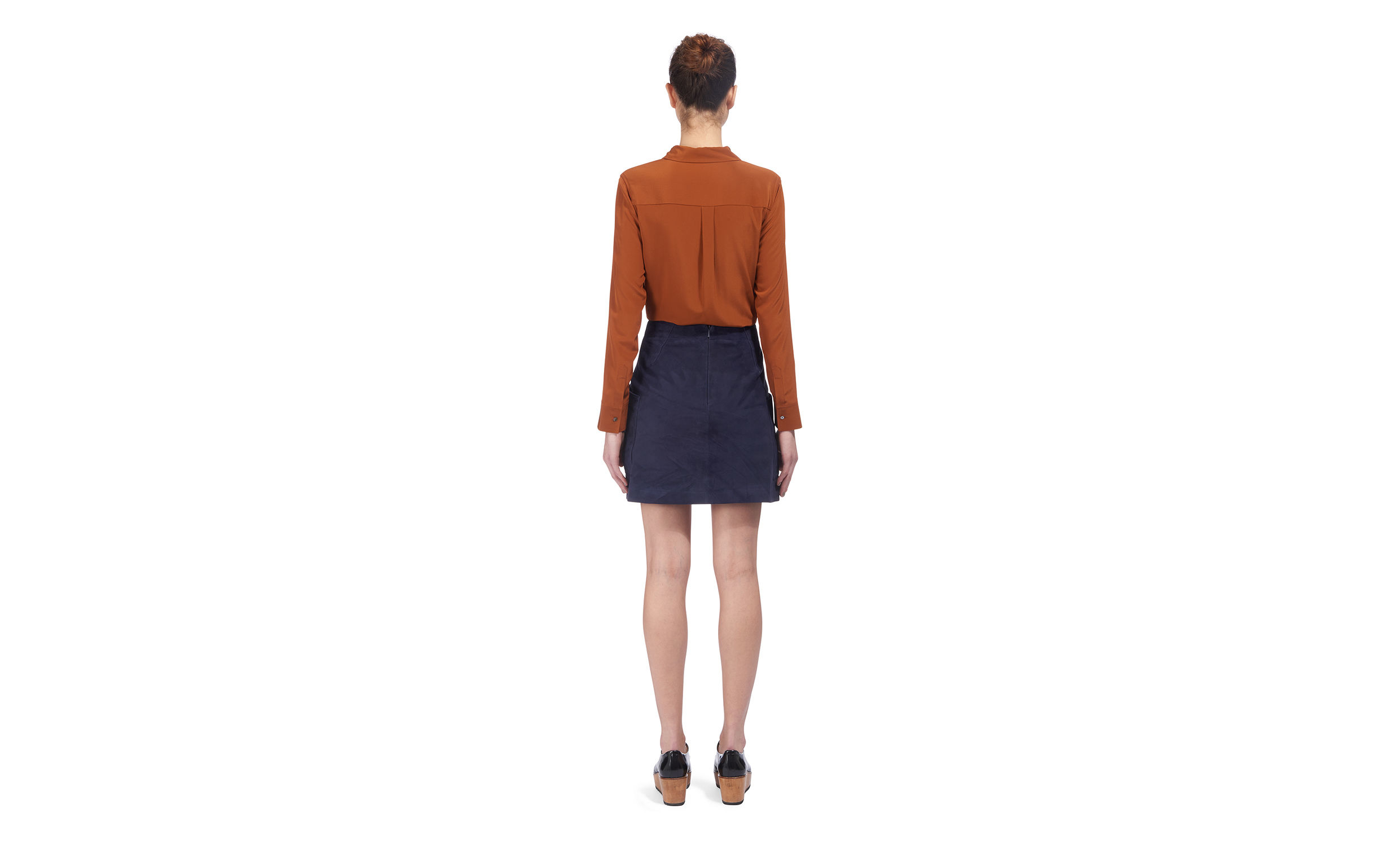 whistles a line suede skirt in blue lyst