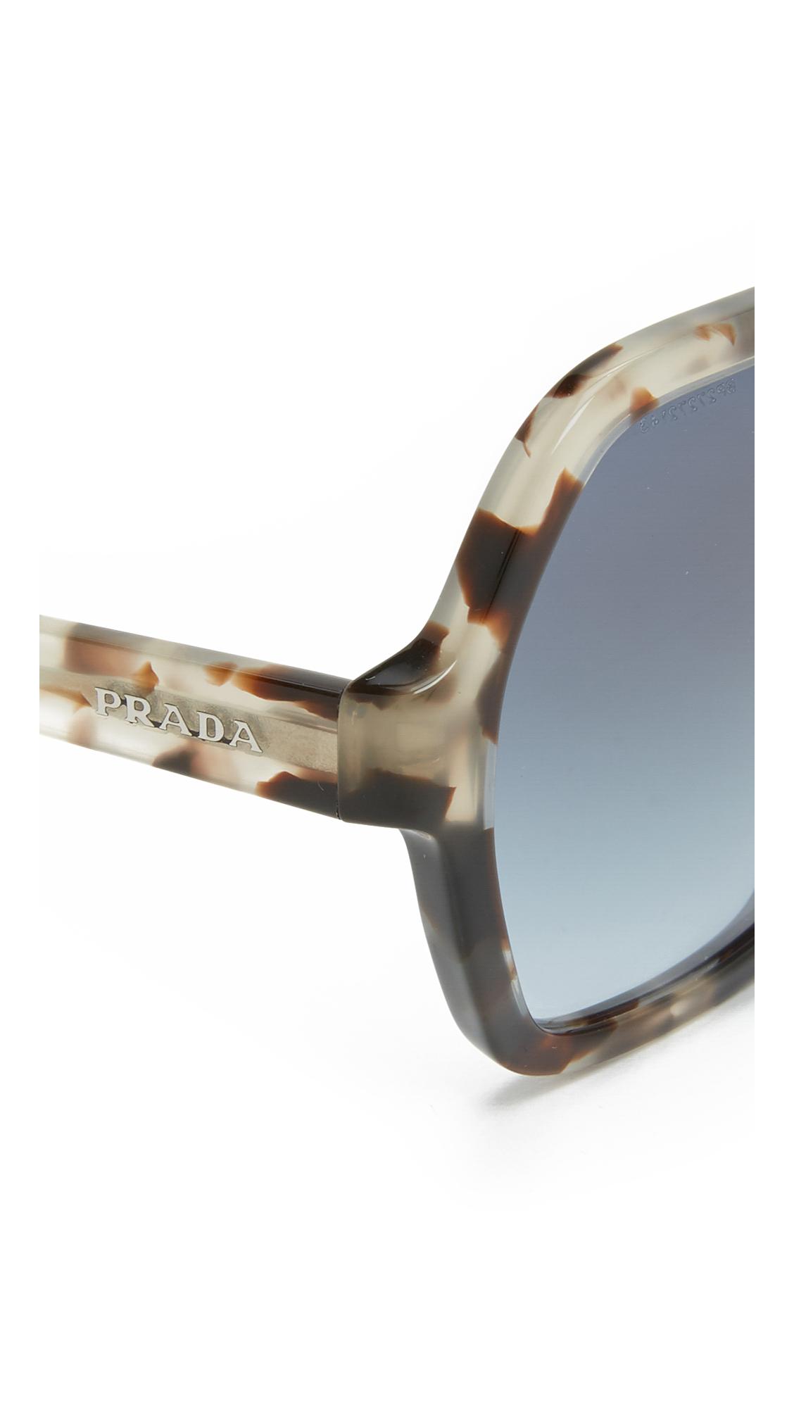 prada bag cheap - Prada Angular Oversized Sunglasses in Brown (Spotted Opal Brown ...