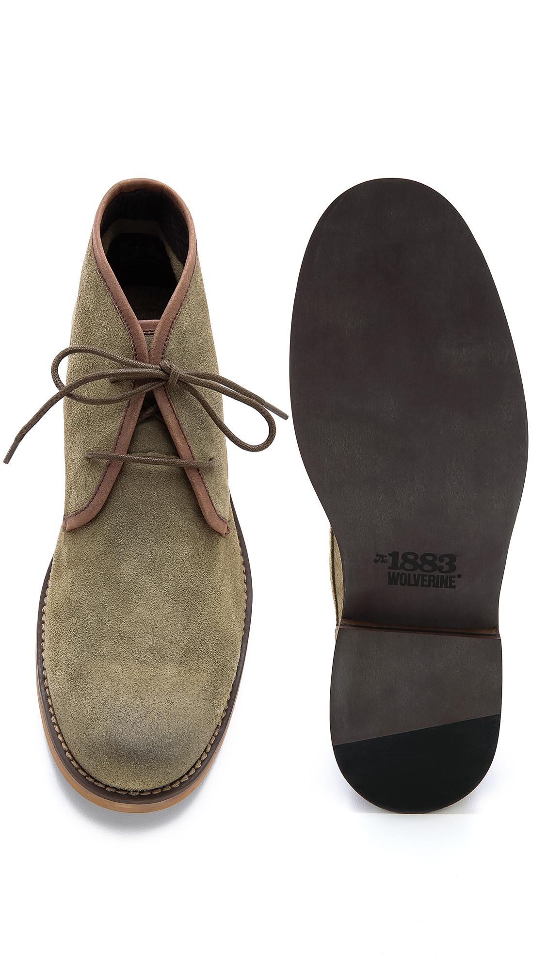 d03d0c07862 Wolverine Green Orville Leather Desert Boots for men