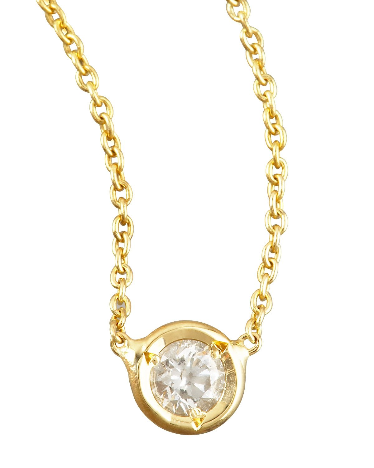 Roberto Coin Diamond Station Necklace Yellow Gold