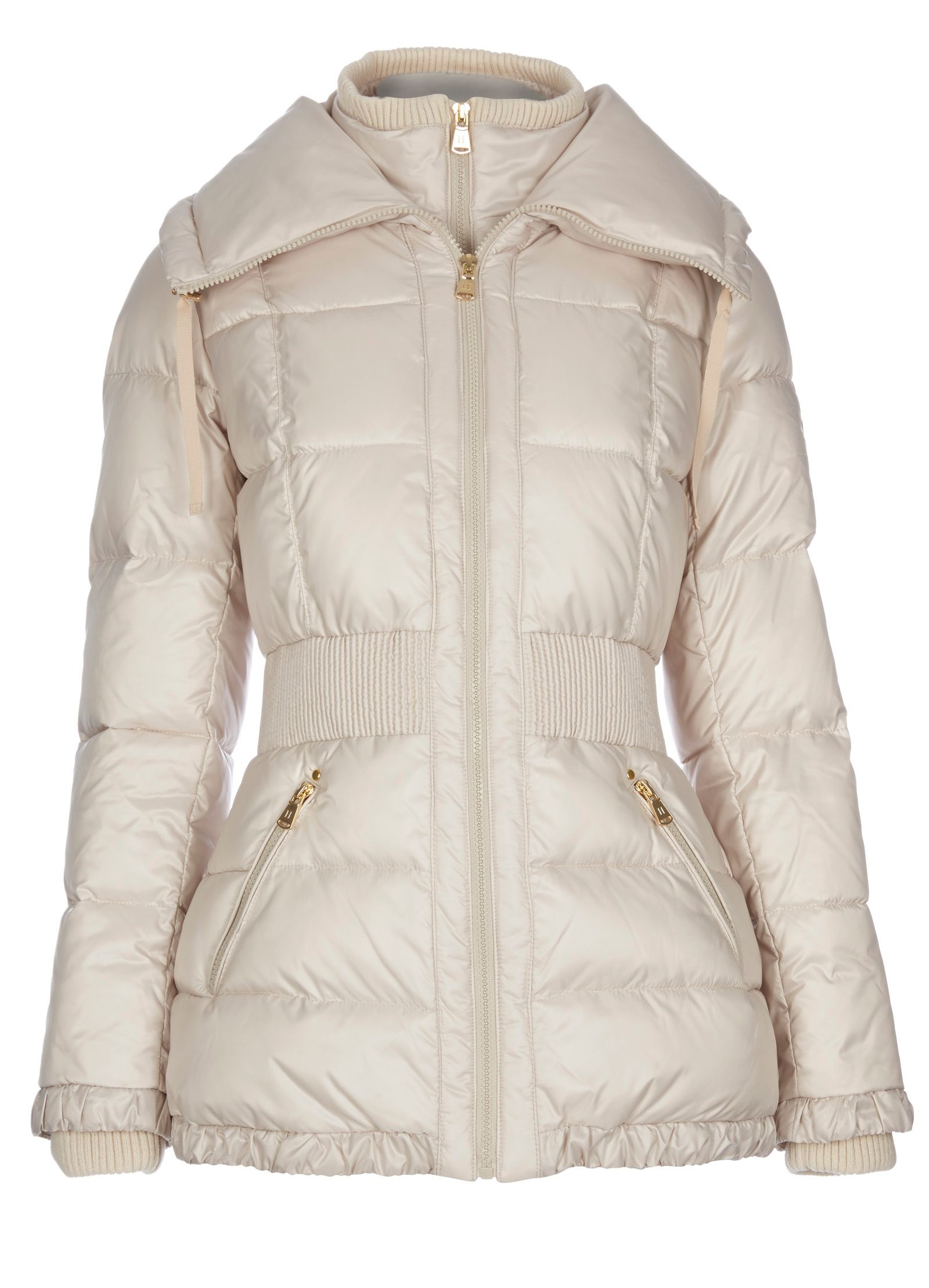 Halifax traders Quilted Jacket With Oversized Collar in