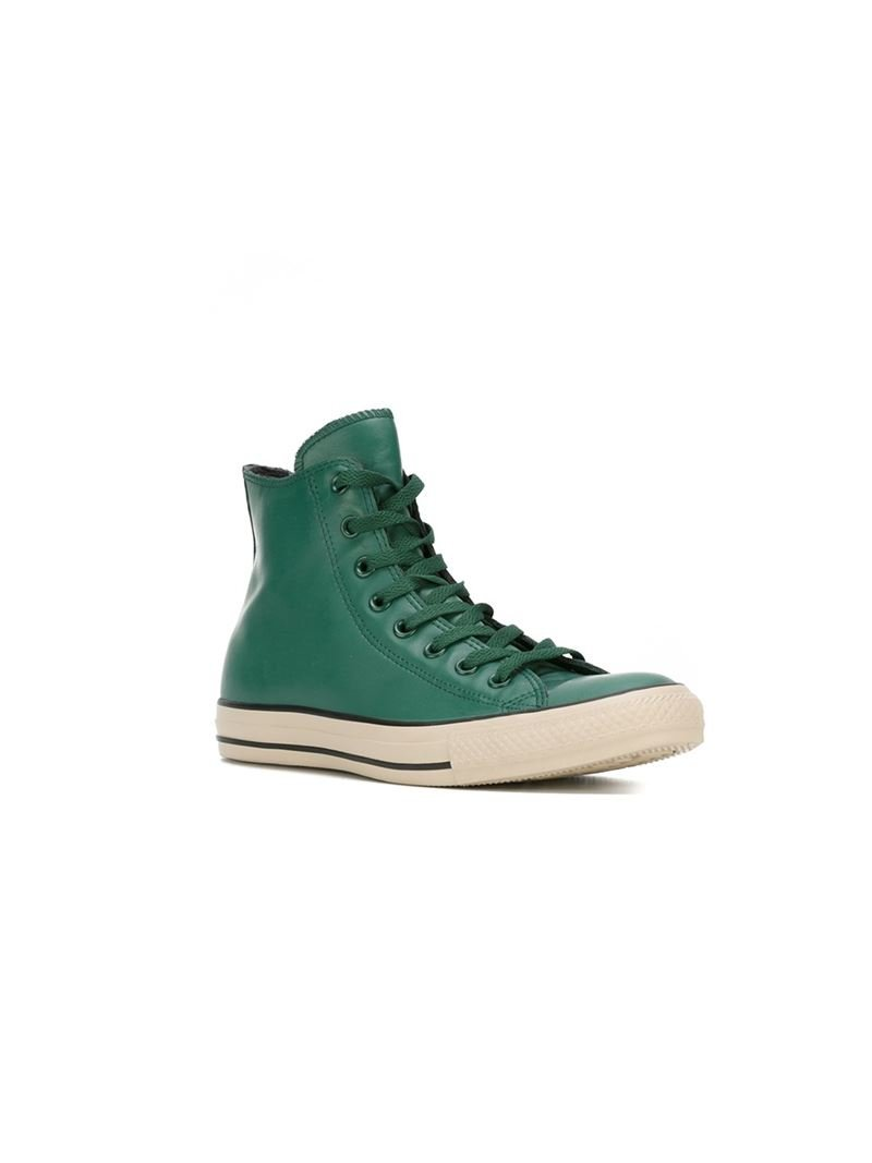 Lyst Converse All Star High Top Sneakers In Green