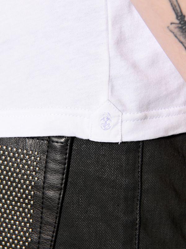 Lyst alexander mcqueen printed plastron organic cotton t for Organic cotton t shirt printing
