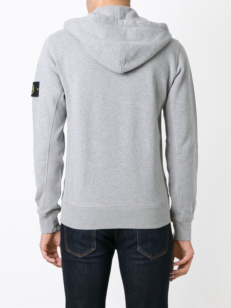 8f0ebd224d4d Lyst - Stone Island Zipped Hoodie in Gray for Men