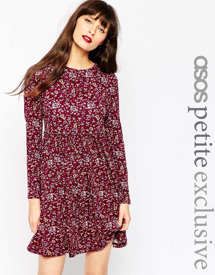1d08e90e9ef ASOS Multicolor Exclusive Babydoll Dress In Ditsy 90's Floral - Multi