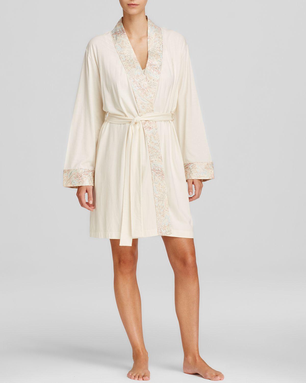 ralph lauren lauren crawley satins kimono wrap robe in natural lyst. Black Bedroom Furniture Sets. Home Design Ideas