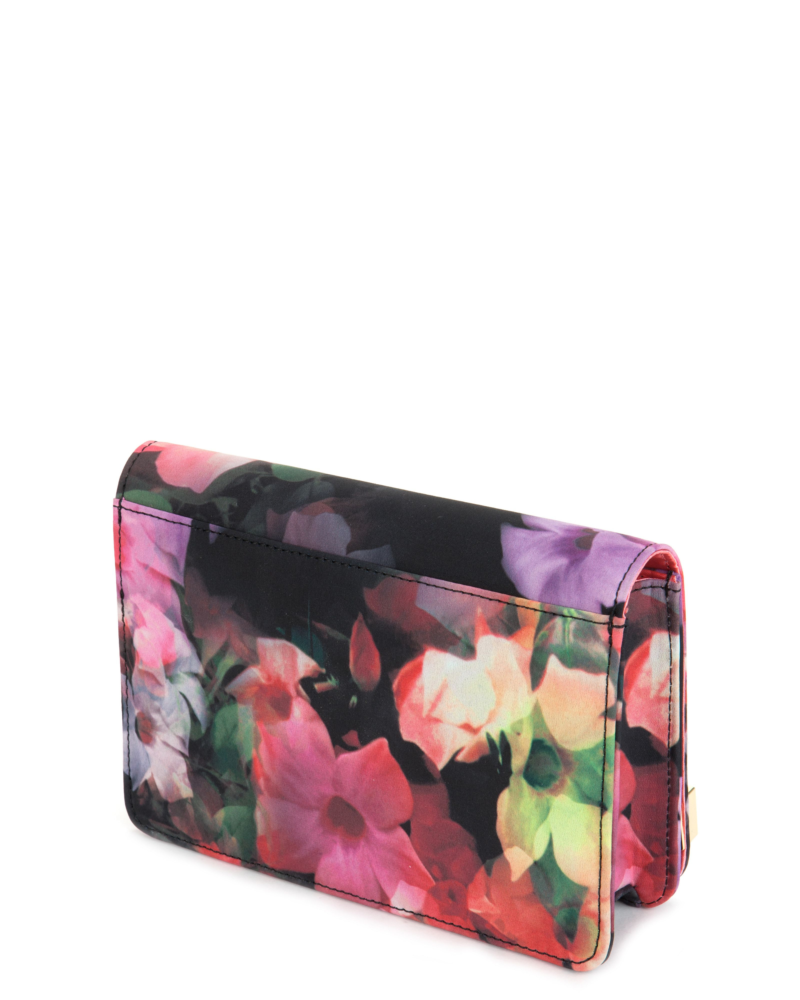 Lyst - Ted Baker Haily Cascading Floral Clutch Bag In Black