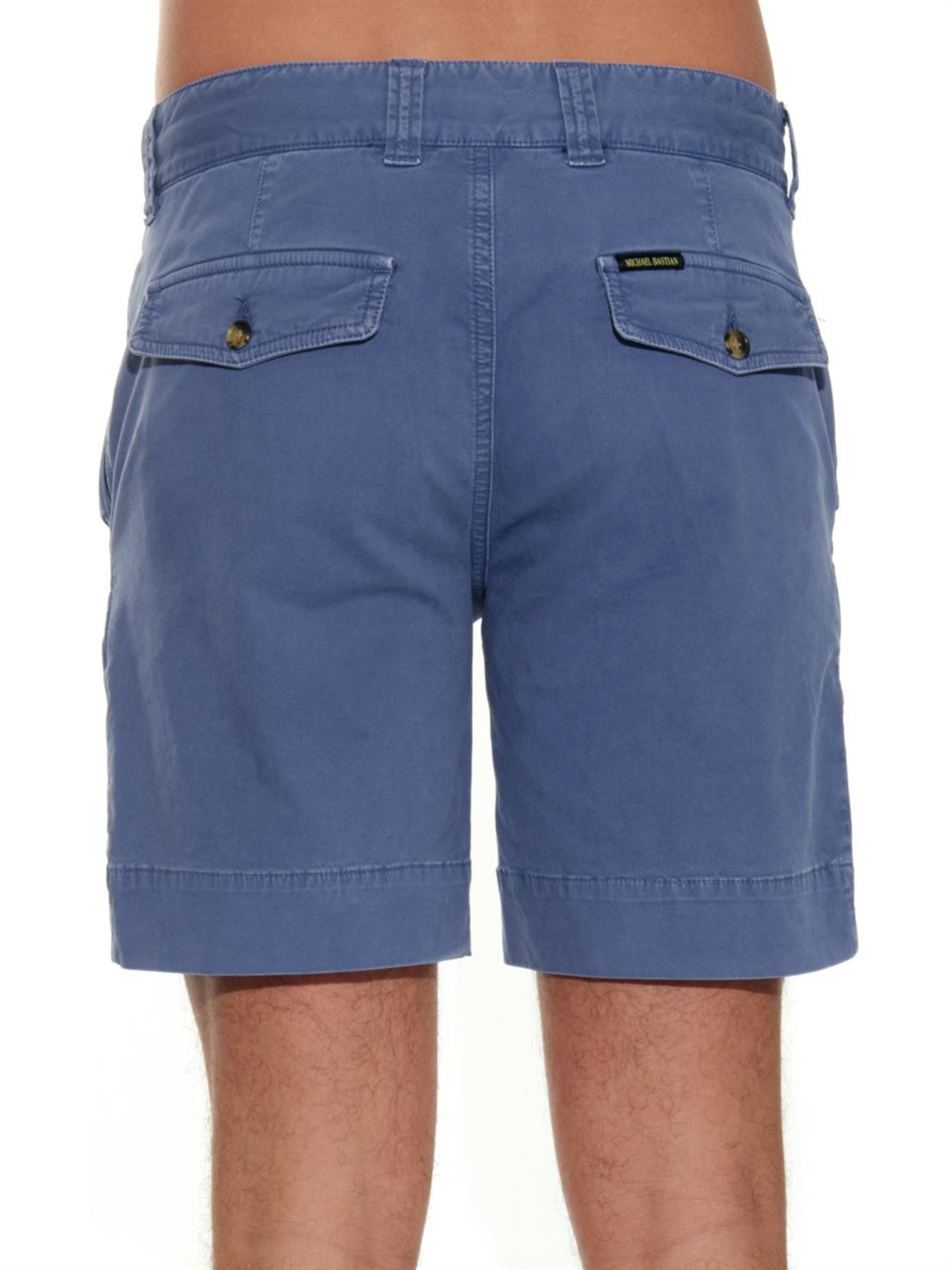 Made from pure cotton, these clean-cut shorts are a wear-with-everything option for warm days Elasticated waist Side pockets Welt pockets, back Length of .