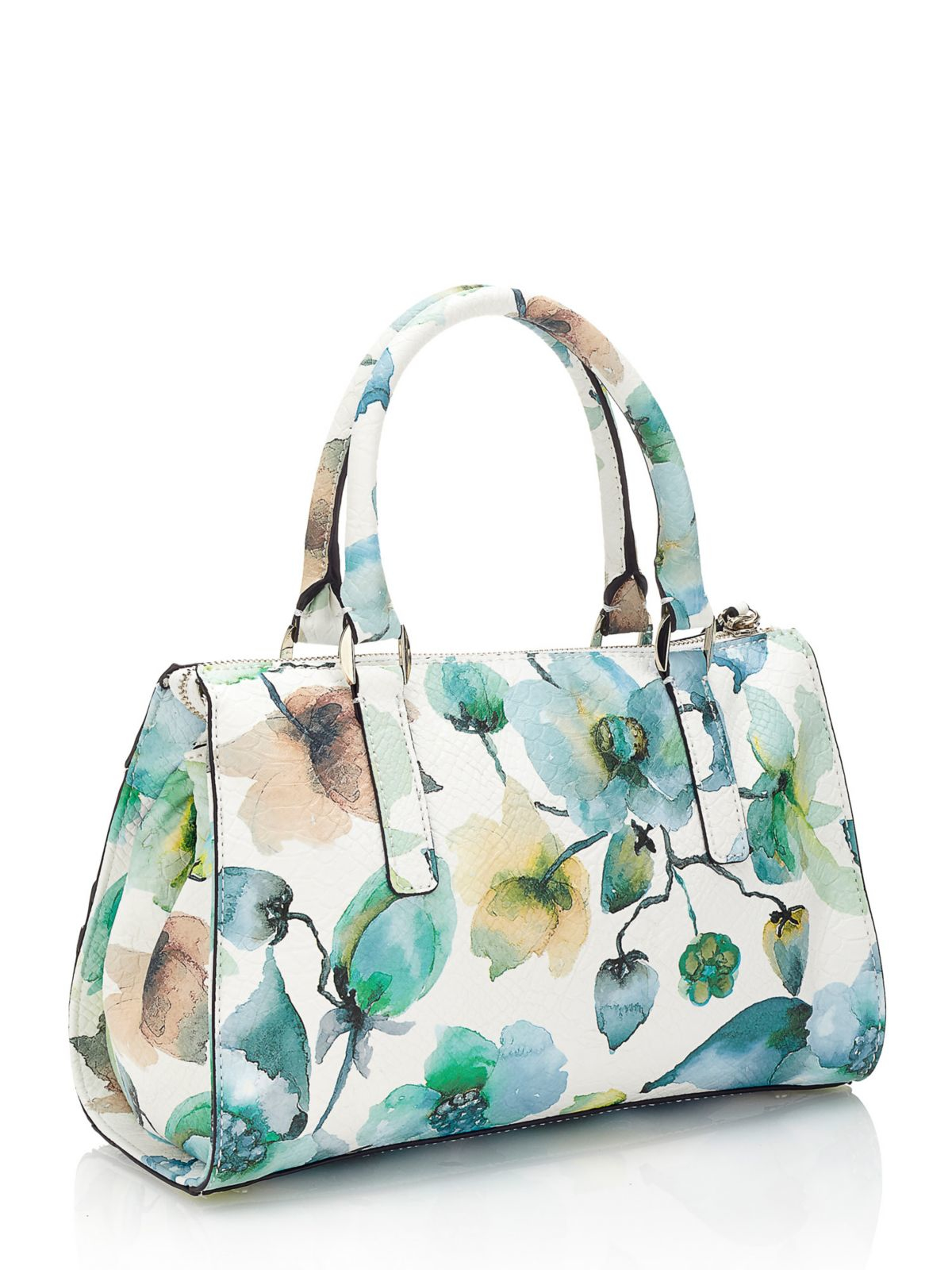 Guess Greyson Floral Print Mini Bag In Blue | Lyst