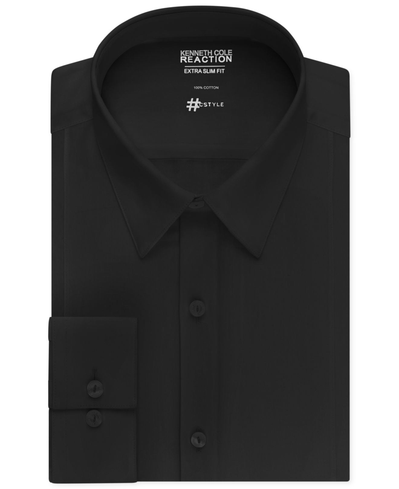 Kenneth cole reaction extra slim fit solid dress shirt in for Extra slim dress shirt