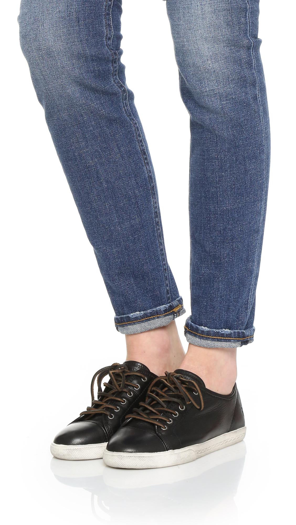 Lyst Frye Mindy Low Sneakers In Black
