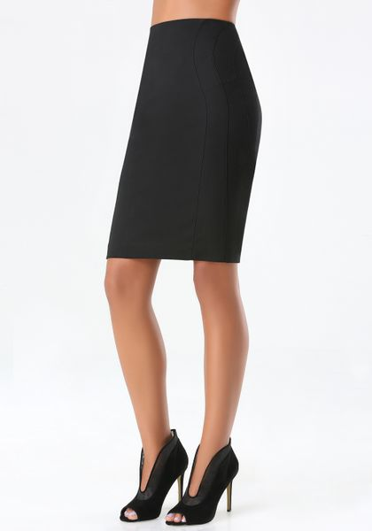 bebe modal pencil skirt in black blk lyst