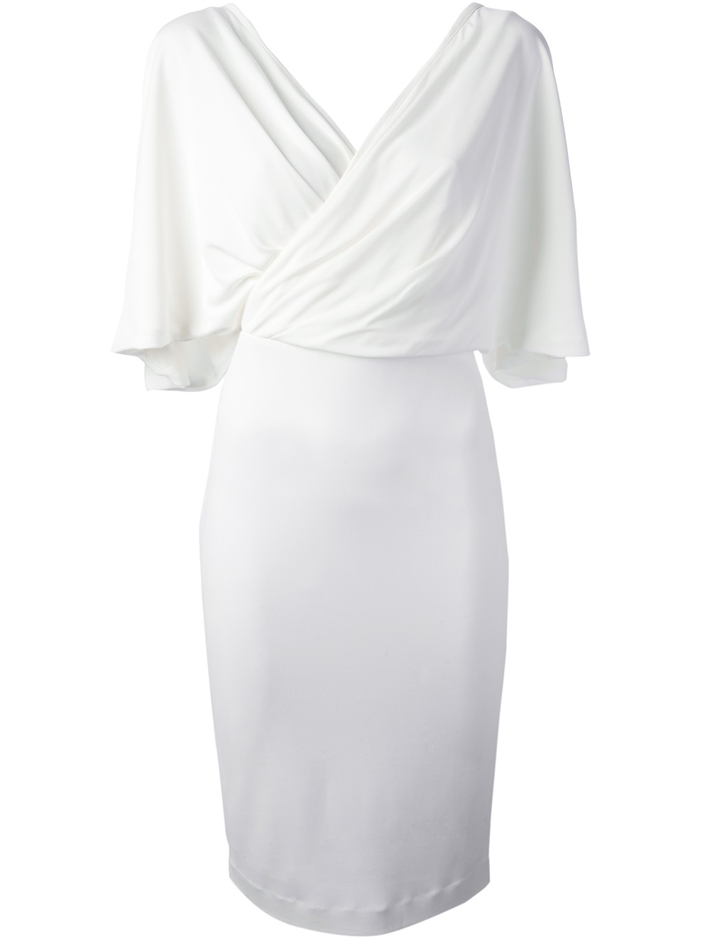 Givenchy Wrap Around Dress In White Lyst