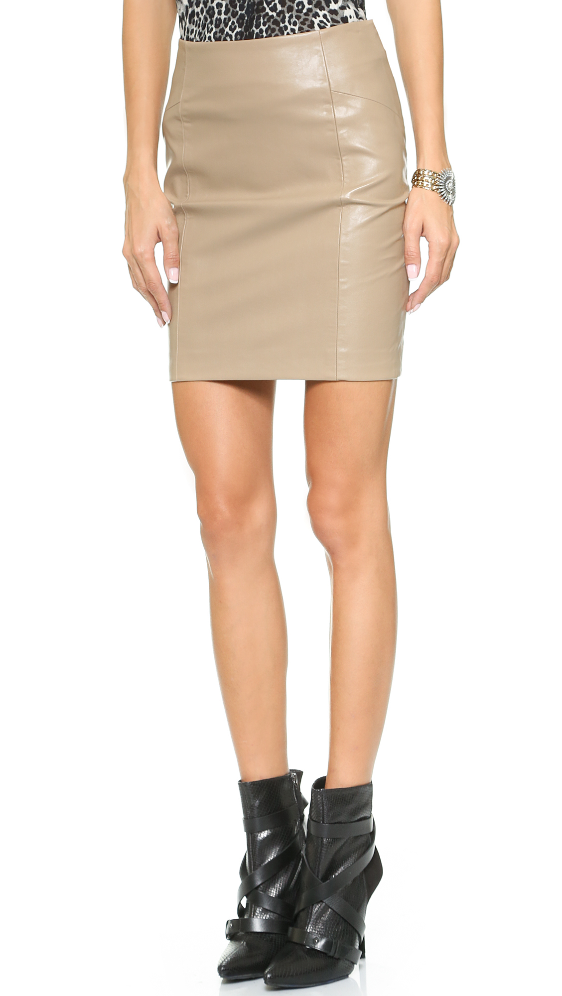 blaque label pencil skirt clay in brown clay lyst
