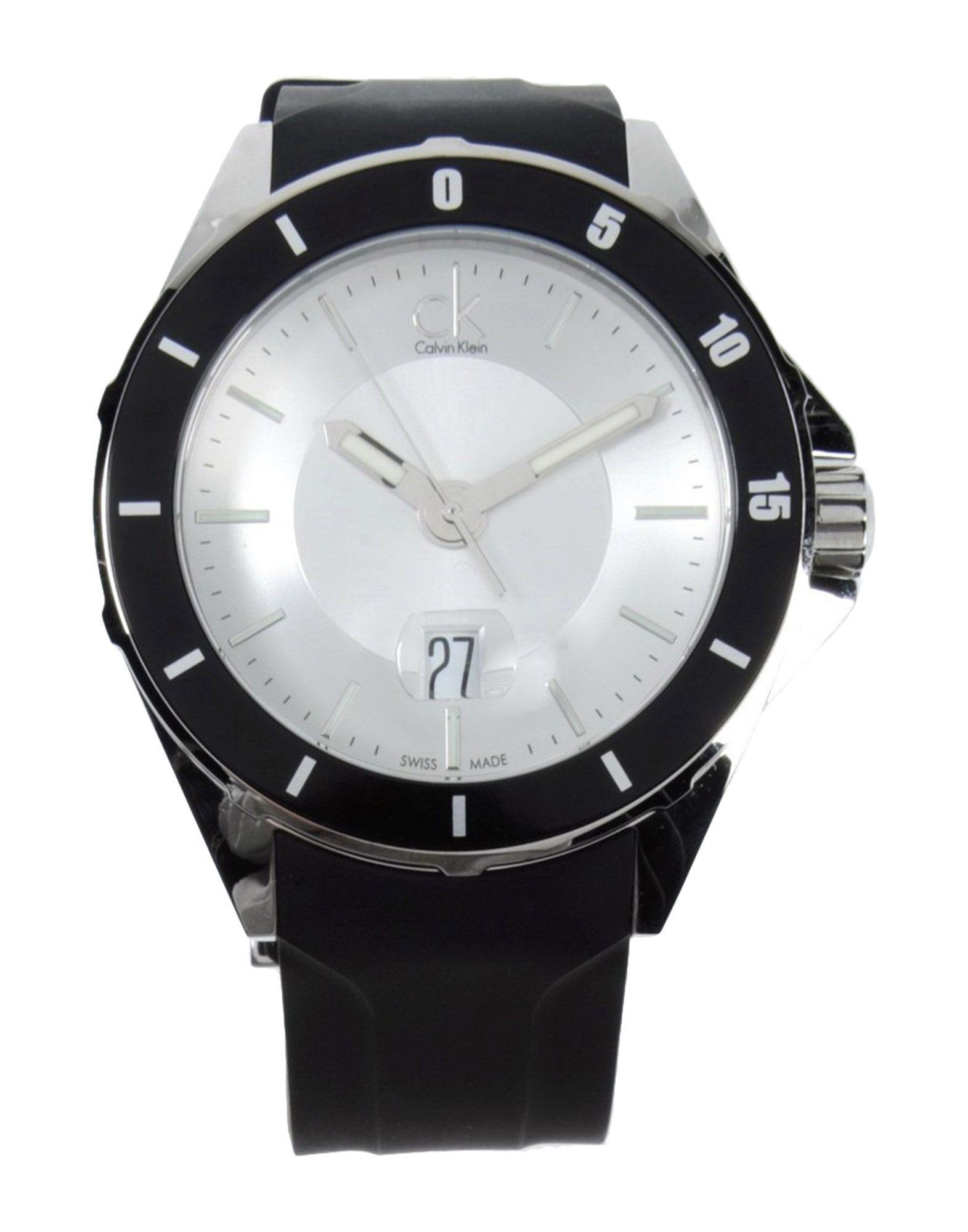 calvin klein wrist in black for white lyst
