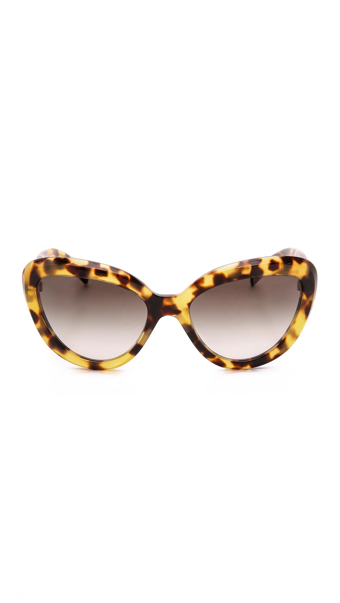 Prada Cat Eye Sunglasses - Havana/brown