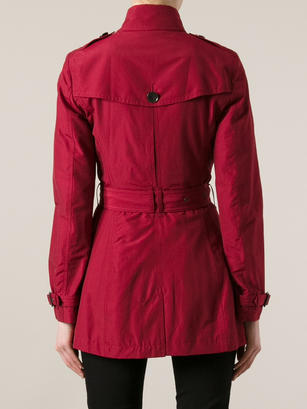 Burberry Brit Brookesby Trench Coat In Red