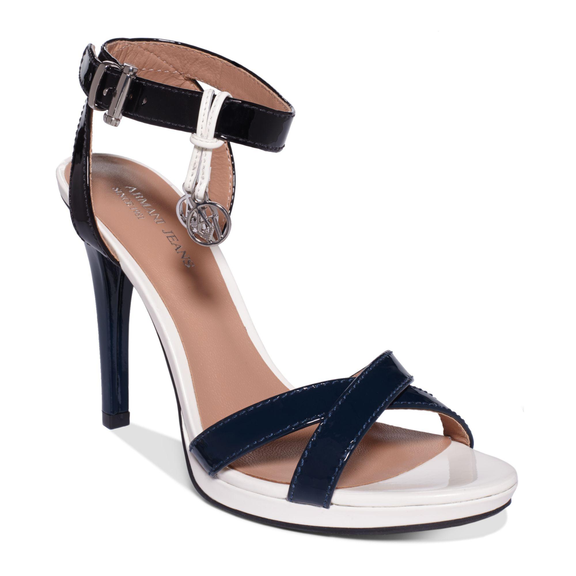 Lyst Armani Jeans Womens High Heel Sandals