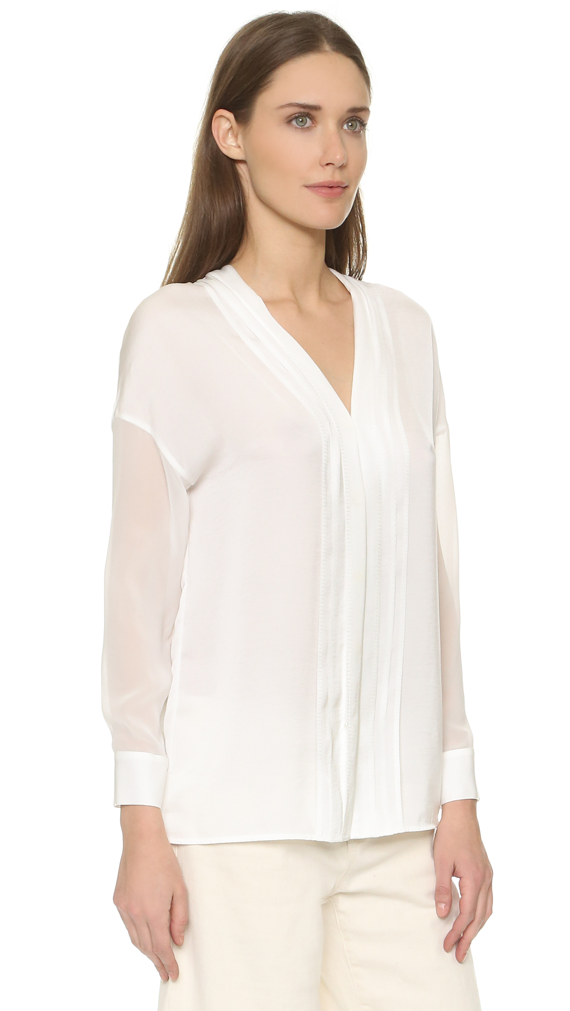 Find white pintuck blouse at ShopStyle. Shop the latest collection of white pintuck blouse from the most popular stores - all in one place.