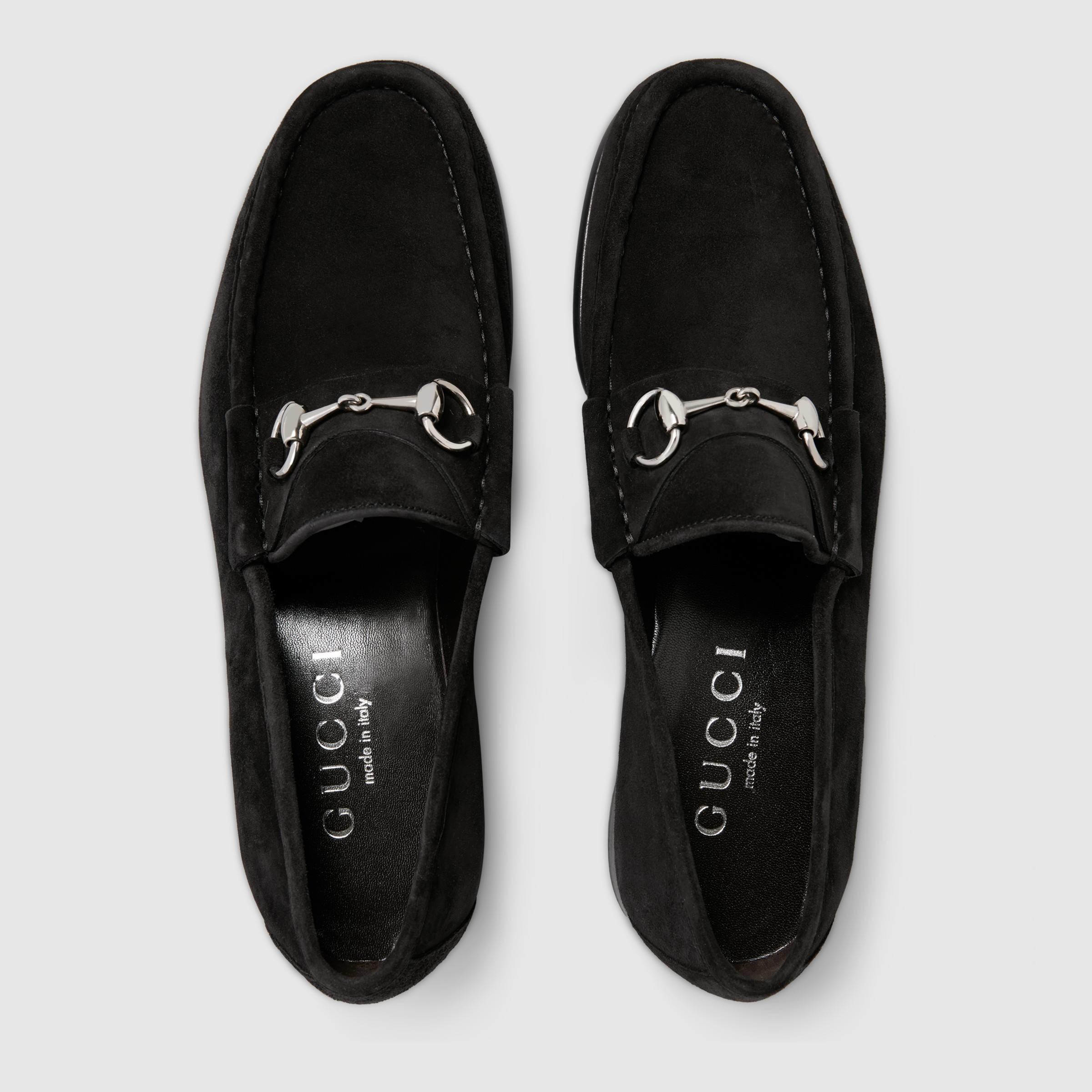 83d17e5bcec Gucci Mens Black Horsebit Loafers