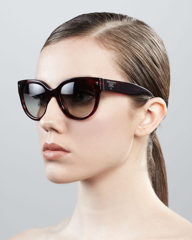 a5bf94422ec ... cheapest lyst prada cat eye retro rectangle sunglasses 1ef29 5ae3a