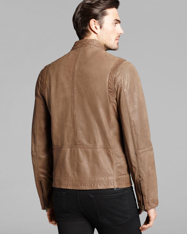 99f9ec2efc Cole Haan Vintage Leather Moto Jacket in Brown for Men - Lyst