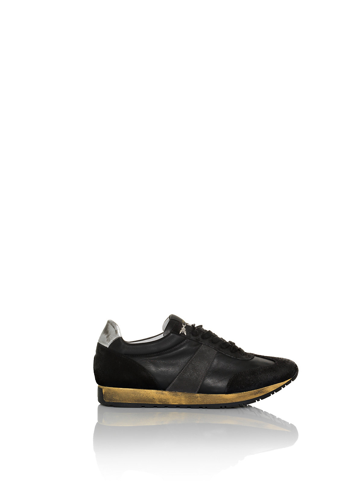 patrizia pepe sneakers leather trainers in black for men. Black Bedroom Furniture Sets. Home Design Ideas