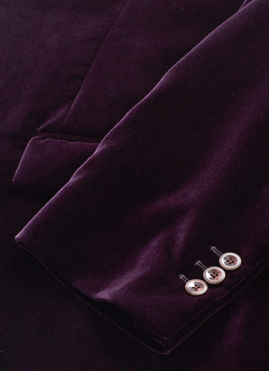 Alexander McQueen Notch Lapel Velvet Blazer in Purple for Men